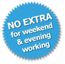 PAT Testing No extra for weekend and evening working
